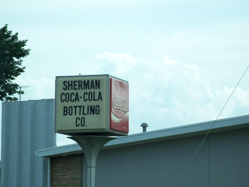 Sherman Coca-Cola Bottling Co. Sign, Sherman, Texas by fables98