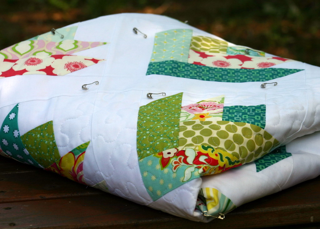 Floral Bouquet Quilt - folded