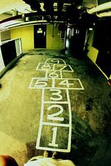 jump aeroplane (gu@n) Tags: 2 6 3 game kids one 1 la jump nine 9 aeroplane 45 number campana 78