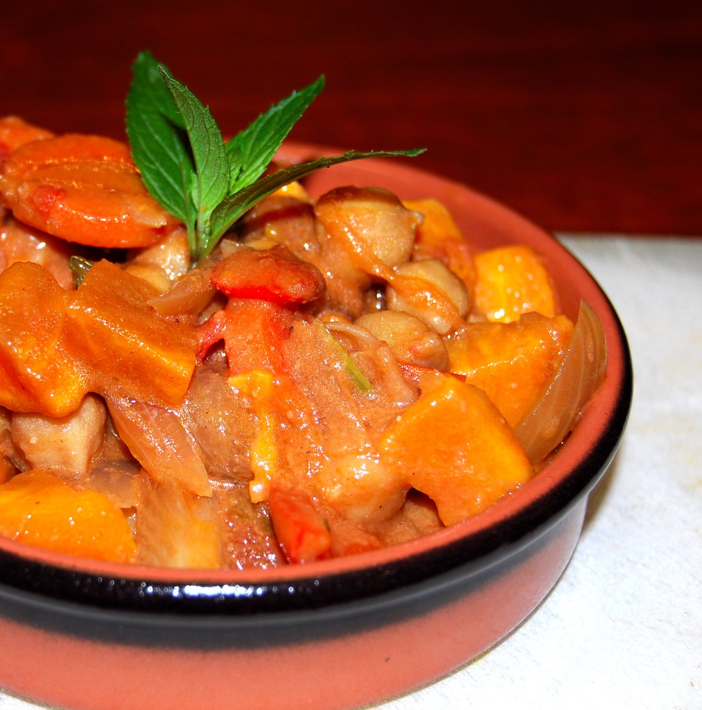 African Sweet Potato-Peanut Stew