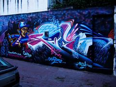 Yo Yo! (Mariano Fernandez / El Lolo) Tags: blanco argentina graffiti negro cordoba rosas gotcha observatorio personajes azules artigas seatuno cordobagraffiti losmuralistas