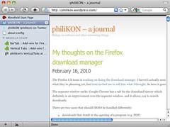 Firefox: Vertical Tabs