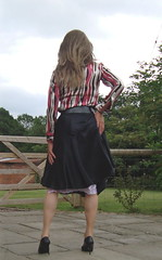 Silk blouse and satin skirt (deborah summers2010) Tags: stockings dress lace skirt heels slip satin slips
