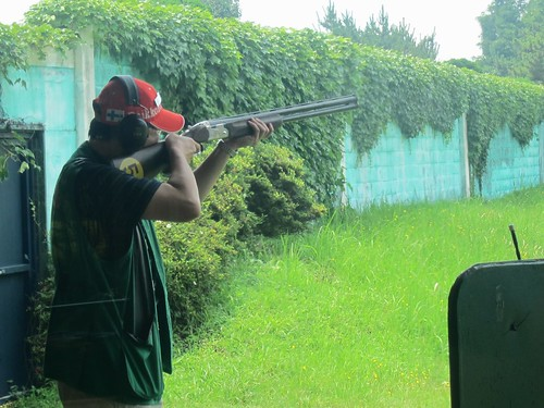 Clay pigeon shooting at Jeju Island