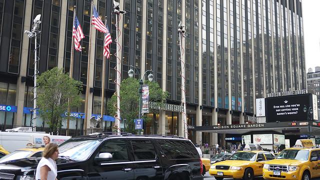 Madison Square Garden at 8:25 am #walkingtoworktoday