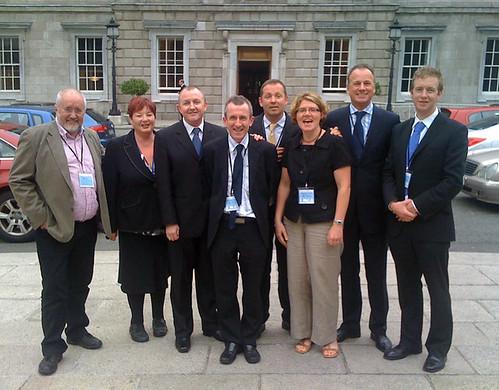 GLEN Board and Staff outside Dail Eireann