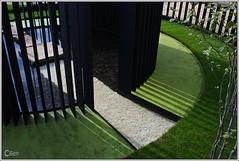 Garden Feature - 1 (cben) Tags: garden shadows hamptoncourt flowershow linescurves