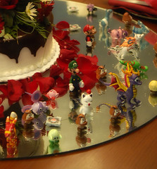 A closer look (DragonsAndBeasties) Tags: wedding love cake anniversary marriage mario polymerclay videogame rosepetals moogle pinatas spyro weddingfavors okami handma