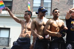 Club Atlantis & Friends Tavern Hotties (plaintruthiness) Tags: nyc gay shirtless man hot sexy male guy march cops pride parade shorts latino hottie abs polica pridemarch papichulos clubatlantis canoneosrebelxsi pridenyc201006