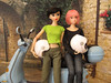Audrey & Torrance take a ride on the Vespa (MurderWithMirrors) Tags: doll vespa sekiguchi momoko mwm petworks 04nf twilightfiancee