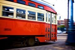 Stop the World (Chris Saulit) Tags: sanfrancisco california northerncalifornia vintage historic motionblur muni embarcadero norcal streetcar fline pcc 1059 municipalrailway