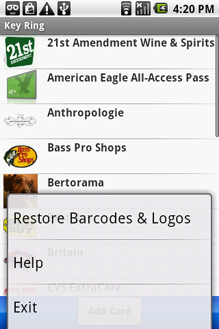 restore barcodes and logos button