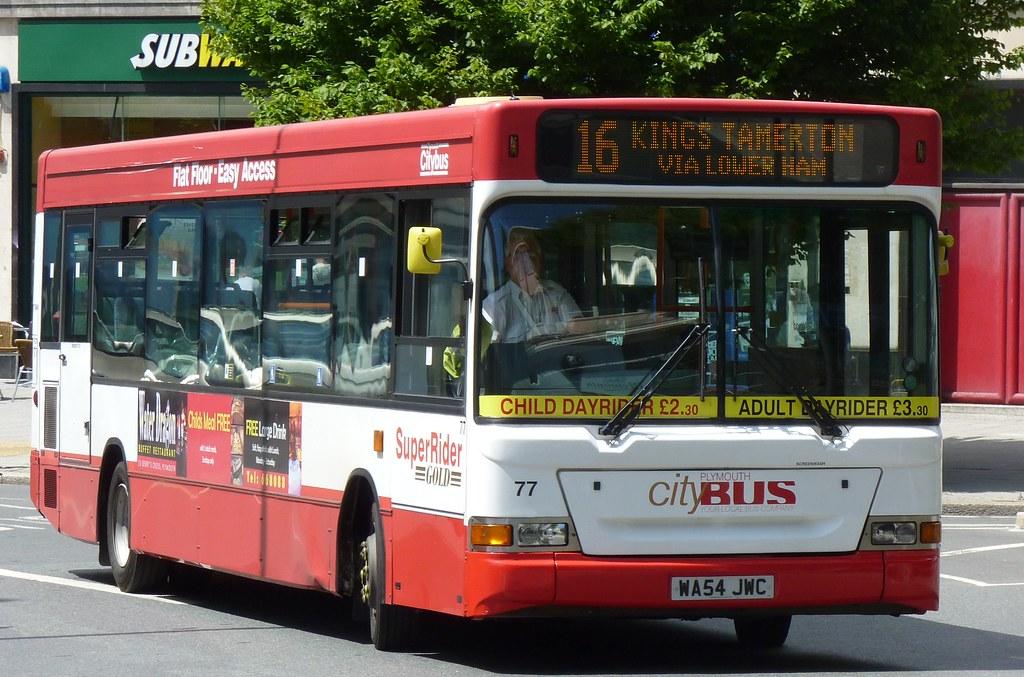 Plymouth Citybus 077 WA54JWC