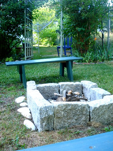 the new fire pit