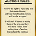 Christine Knight Lloyds Auction Rules Poster