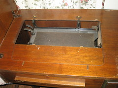 sewing table top when opened