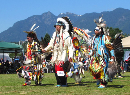 Squamish Nation Pow Wow 2010 Native Dance at Capilano Indian Reserve Park, Grand Entry Dance