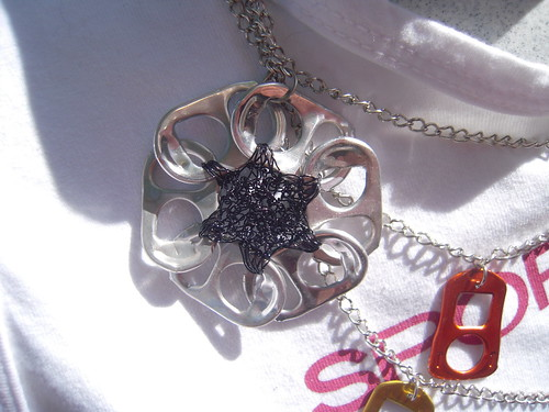 Aluminium Flower Necklace (by Orquidea)