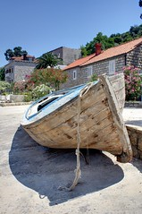 Barca en la Isla de Lopud