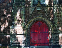 St. Stephen's-in-the-Field Anglican Church Door (Sally E J Hunter) Tags: door red toronto church reddoor moo1 ststephensinthefield topwkm