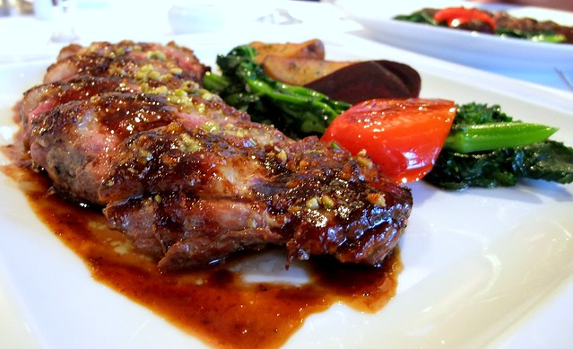 Pistcahio Crusted Duck with Maple Syrup Reduction
