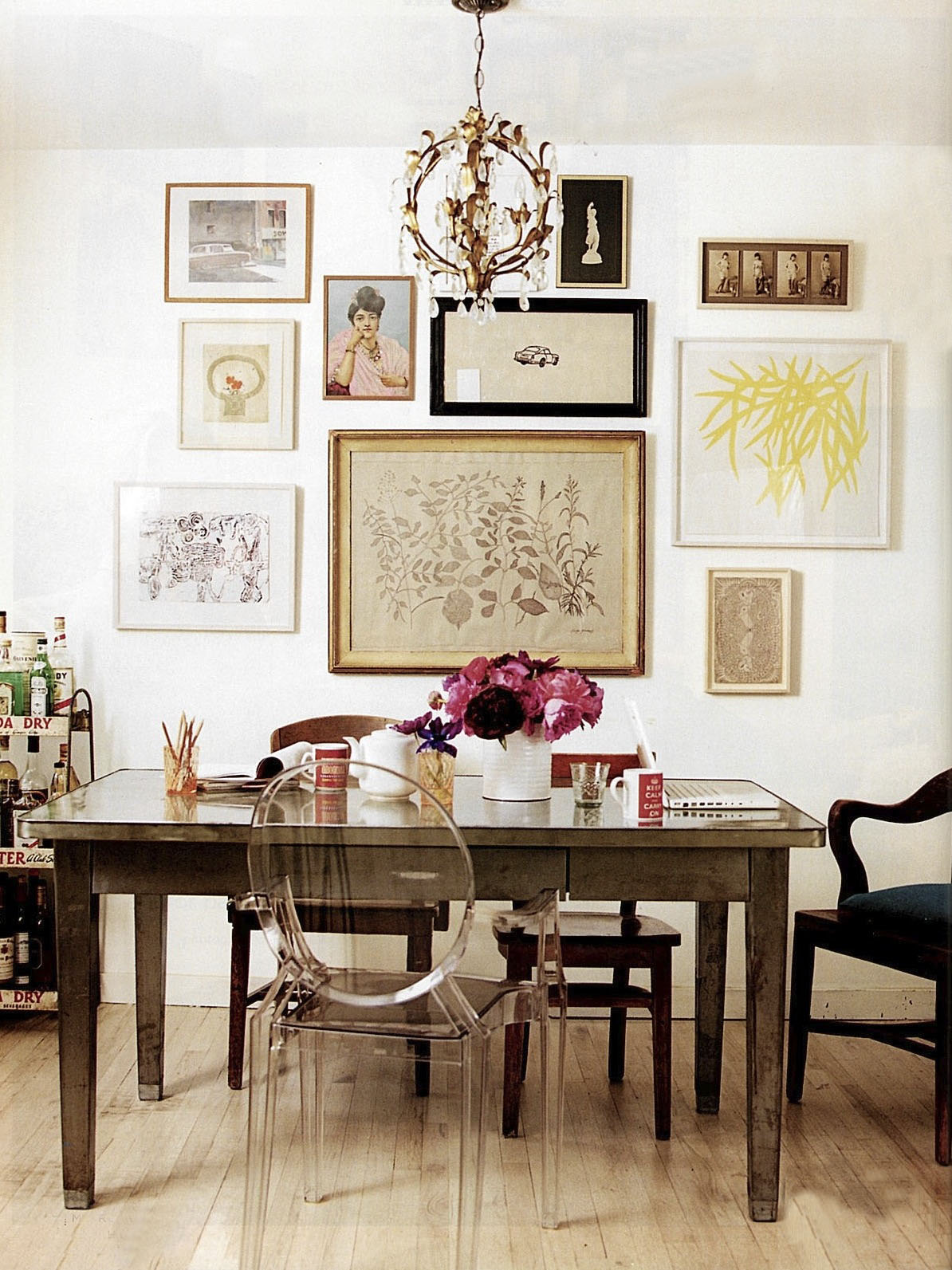 Amazing Gallery Wall In Dining Room