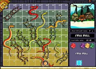 free Big Kahuna Snakes and Ladders gamble bonus game