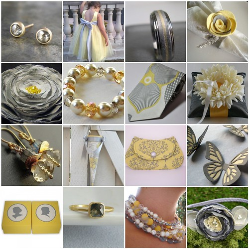check out these weddings picks in colors of yellow gold and gray