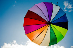 Rainbow Day (Mick h 51) Tags: blue ireland gay summer sky dublin umbrella canon eos rainbow colours sigma pride 1020 450d gettyimagesirelandq1