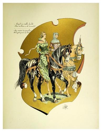009-Castellanas de mitad del siglo XIV-Le chic à cheval histoire pittoresque de l'équitation 1891- Louis Vallet