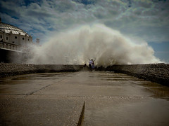 Splash (AndyWilson) Tags: wet pier brighton wind panasonic salty groyne damp compact splashed tz1 seasidewaves
