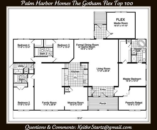 2 Bedroom Mobile Home Floor Plan
