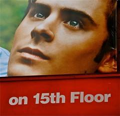 Zac Efron (sfPhotocraft) Tags: nyc usa newyork face eyes broadway billboard lookingup moviestar zac 2010 15thfloor moviebillboard zacefron jewishboy charliestcloud