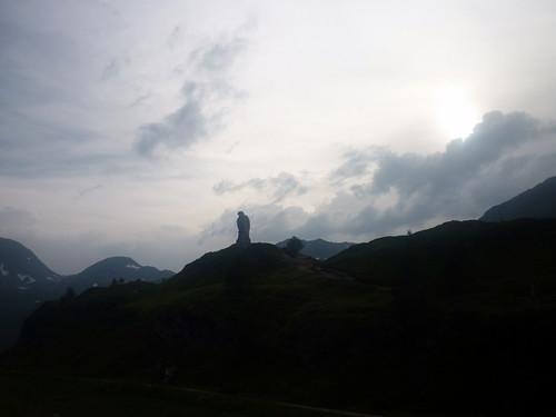 L'aigle en pierre du col du Simplon