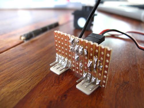 Stripboard soldering