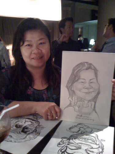 caricature live sketching for RBS 14 July 2010 - 4