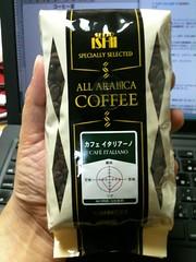 コーヒー豆。カフェイタリアーノ。