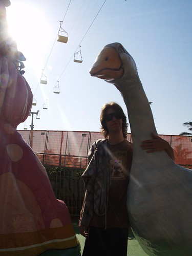 Rory and a giant goose