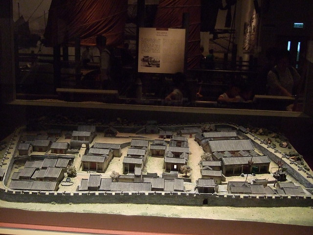 Model of the original 19th century Kowloon Walled City.