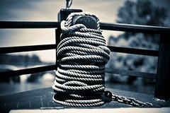 Up Anchor (edocMadman) Tags: cruise france river boat dordogne rope anchor beynac cazenac blackwhitephotos bugue
