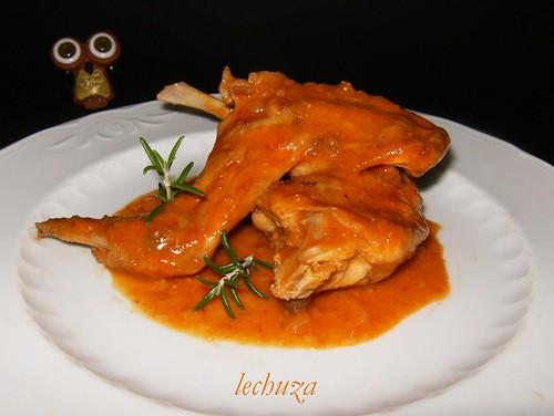 Conejo con tomate-plato sin arroz