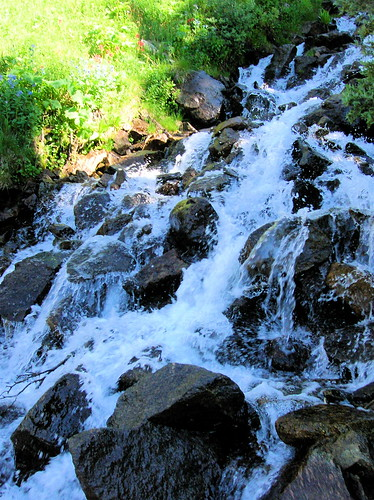 Mountain rushing water