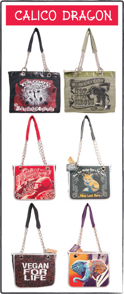 Vegan Handbags: Calico Dragon