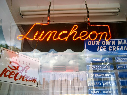 Luncheon Neon Northport Sweet Shop