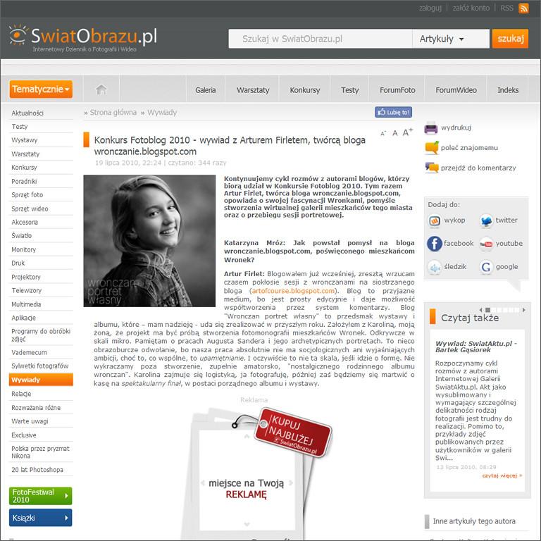 Wronczan portret własny www.wronczanie.blogspot.com @ swiatobrazu.pl