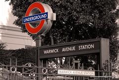 Warwick Avenue Tube Station (Blogomentary) Tags: city uk venice england urban white black london westminster station architecture underground little camden capital vale holborn british avenue warwick maida blogomentarycom