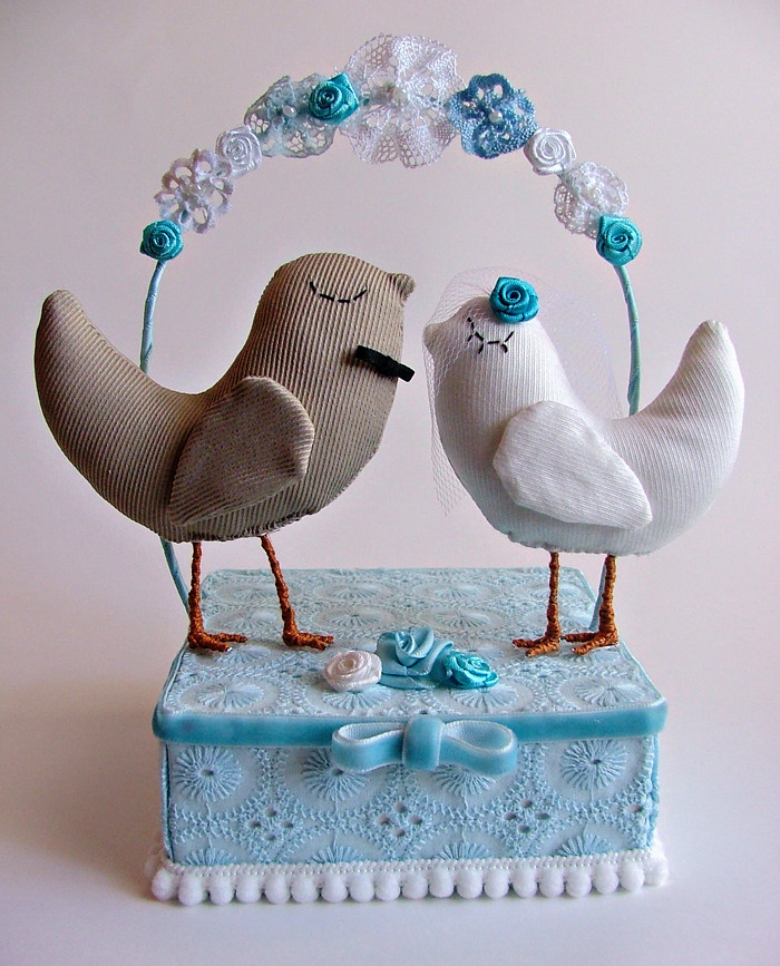 Wedding Cake Topper - Little Birds