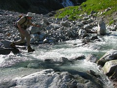 Stream Crossing (Dru!) Tags: mountain canada ford creek jump stream crossing bc britishcolumbia alpine mission graham scrambling alpinism chehalis coastmountains agassiz mountainliving rowbotham ratney skwellepilcreek bardean