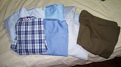 8 Shirts, 1 Pair of Pants, All Cusom Fit - $53