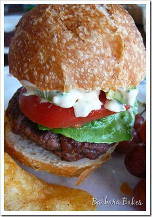 Southwest Chipotle Burgers Sliders @ Barbara Bakes
